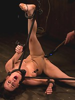 Petite Brunette is Bound, Vibed and Denied