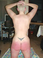 Spanking session delivered by request