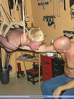 Suspension Bondage with heavy weights