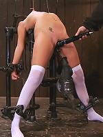 Katie Summers Pigtails and nipple torture. Sweet
