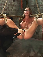 Hot MILF suffers the most painful bondageCategory 5 suspension made to squirt all over the place